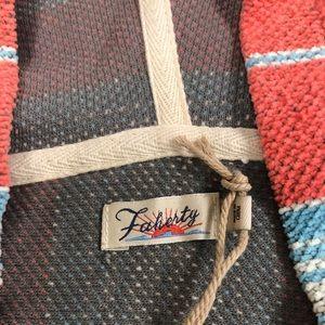 Faherty Sweaters - FAHERTY Seabrook Poncho Sedona Red Serape NWT
